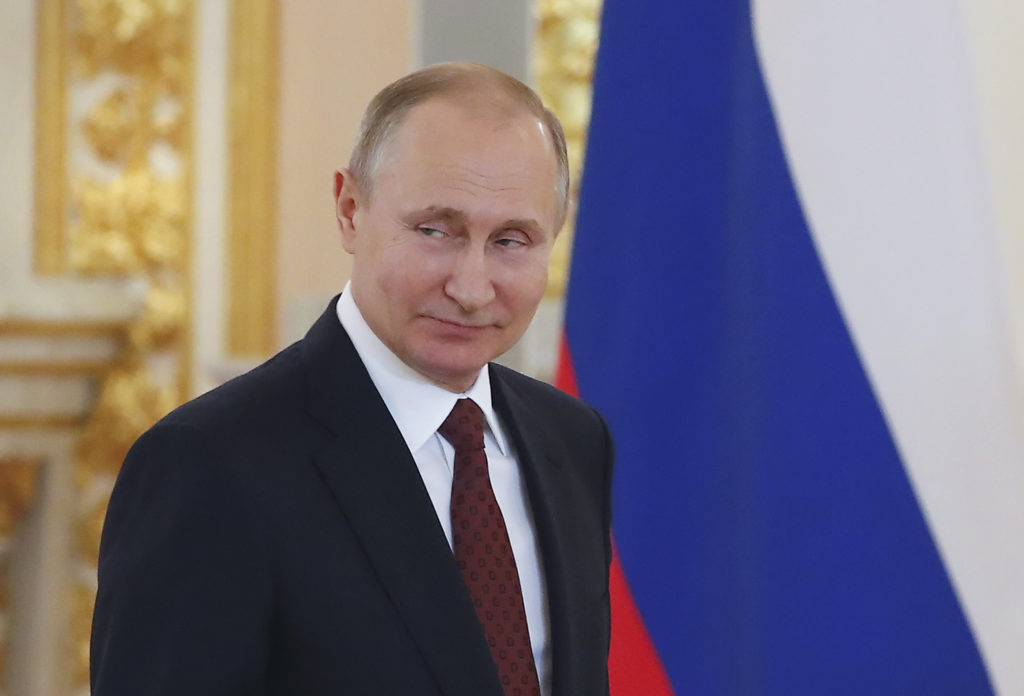 File photo of Russian President Vladimir Putin by Sergei Ilnitsky/Pool via Reuters