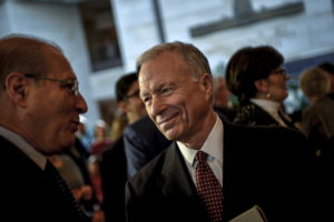Scooter Libby, former Vice President Dick Cheney's former chief of staff, mingles before a ceremony to unveil a marble bust of Cheney in the Capitol in Washington, D.C. Photo by James Lawler Duggan/Reuters
