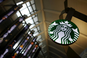 A Starbucks store is seen inside the Tom Bradley terminal at LAX airport in Los Angeles, California, U.S. on October 27, 2015. Photo by Lucy Nicholson/Reuters