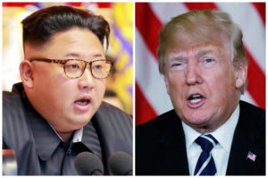 FILE PHOTO: A combination photo shows North Korean leader Kim Jong Un (L) in Pyongyang, North Korea and U.S. President Donald Trump (R), in Palm Beach, Florida, U.S., respectively from Reuters files. Photo via Reuters.