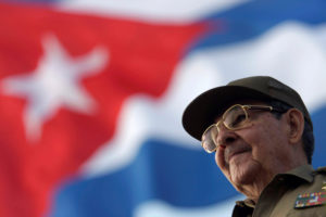 Cuba's President Raul Castro attends the 2008 May Day parade at Havana's Revolution Square. Photo by Sven Creutzmann/Reuters