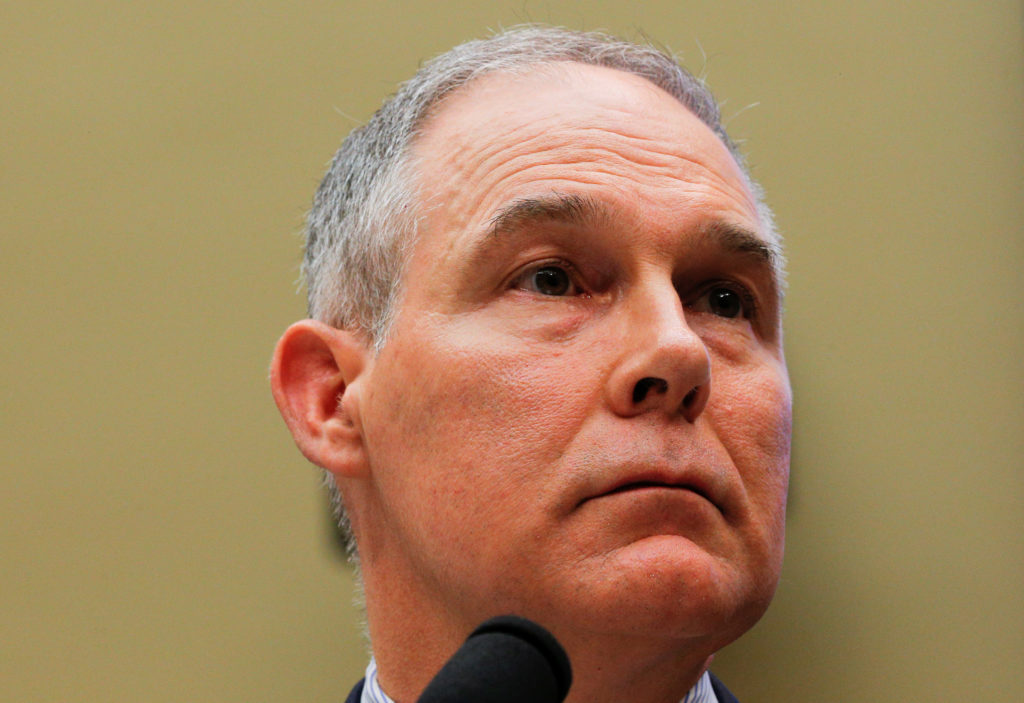EPA Administrator Scott Pruitt testifies before a House Energy and Commerce Subcommittee hearing on the FY2019 Environment...