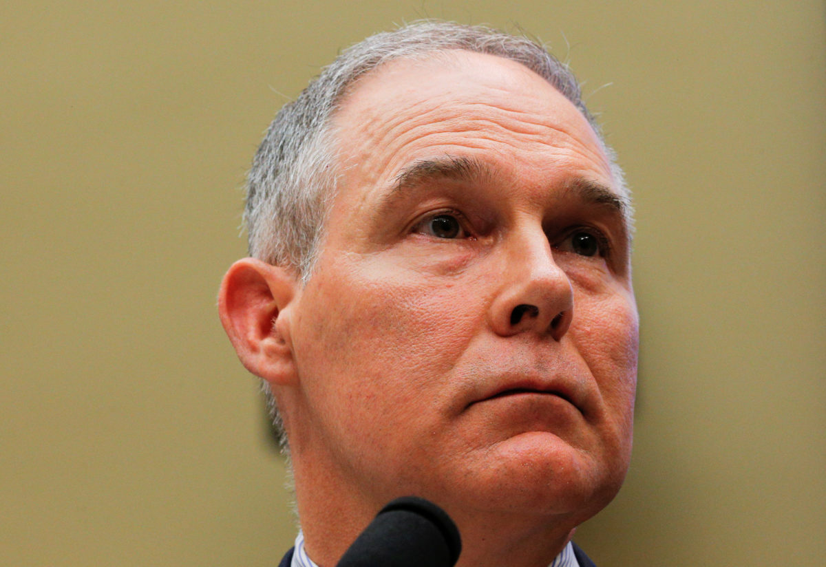 EPA Administrator Scott Pruitt testifies before a House Energy and Commerce Subcommittee hearing on the FY2019 Environmental Protection Agency budget in Washington, D.C. Photo by Brian Snyder/Reuters