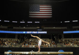 USA Gymnastics has reached a confidential settlement in a Georgia lawsuit that spurred a newspaper investigation into the organization's practices for reporting child abuse. Photo by Gary A. Vasquez-USA TODAY Sports