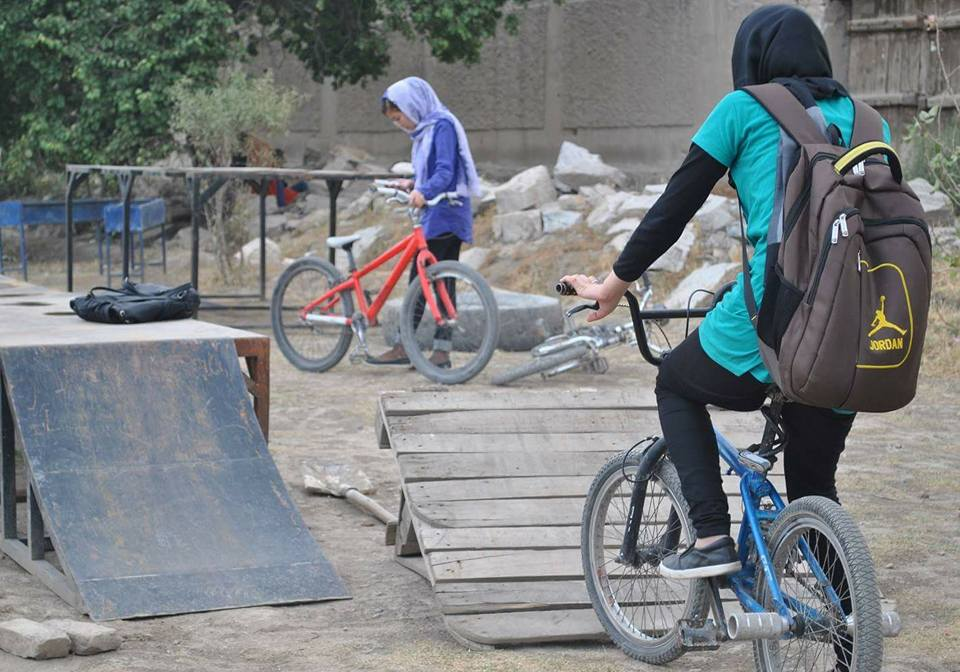 Free-style biking has become popular in Afghanistan, especially in Kabul. Photo courtesy of Internews