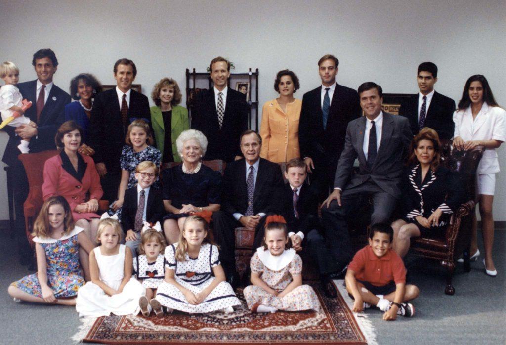 A Bush family portrait. Photo courtesy of Reuters.