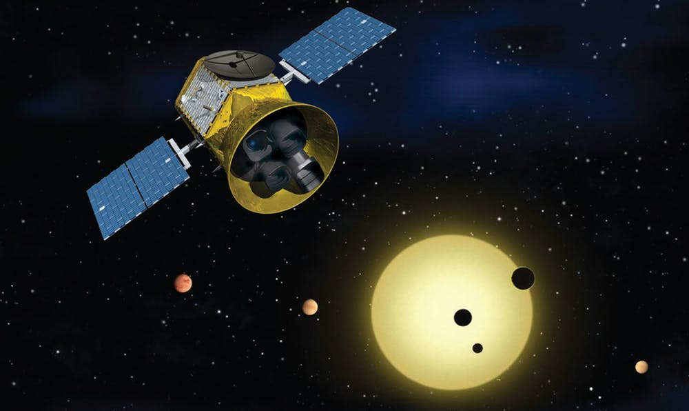 Once launched, TESS will identify exoplanets orbiting the brightest stars just outside our solar system. Photo by NASA's Goddard Space Flight Center