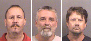FILE PHOTO: Curtis Allen 49, (L to R), Gavin Wright, 49 and Patrick Eugene Stein, 47 are shown in these booking photos in Wichita, Kansas provided October 15, 2016. Photo courtesy of Sedgwick County Sheriff's Office/Handout via REUTERS/File Photo ATTENTION EDITORS - THIS IMAGE WAS PROVIDED BY A THIRD PARTY - RC1C9307F720