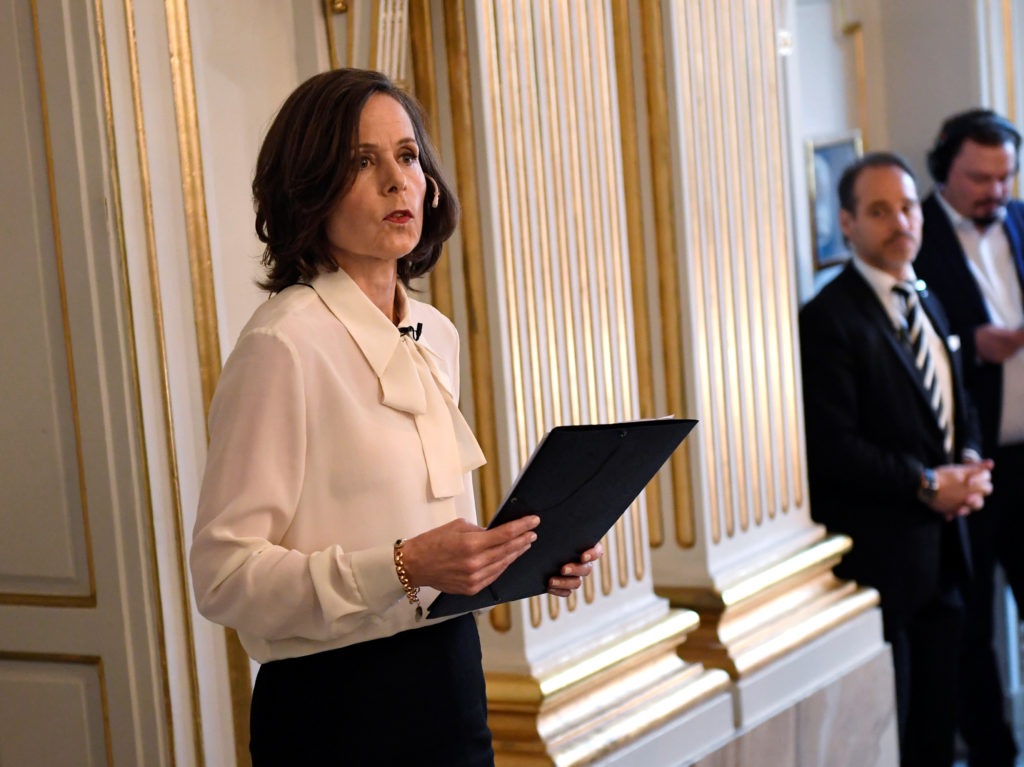Permanent Secretary of the Swedish Academy Sara Danius announces that Bob Dylan is awarded the 2016 Nobel Prize in Literat...