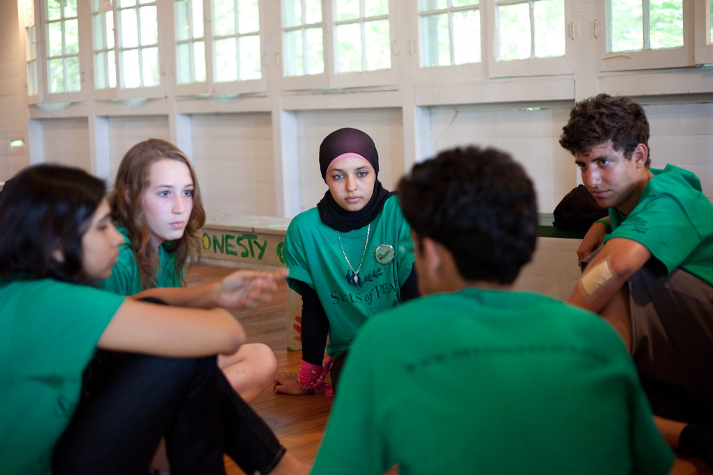 Seeds of Peace was founded to create opportunities for young people to come together across lines of conflict. It's evolved into a leadership development organization. Photo courtesy of Seeds of Peace