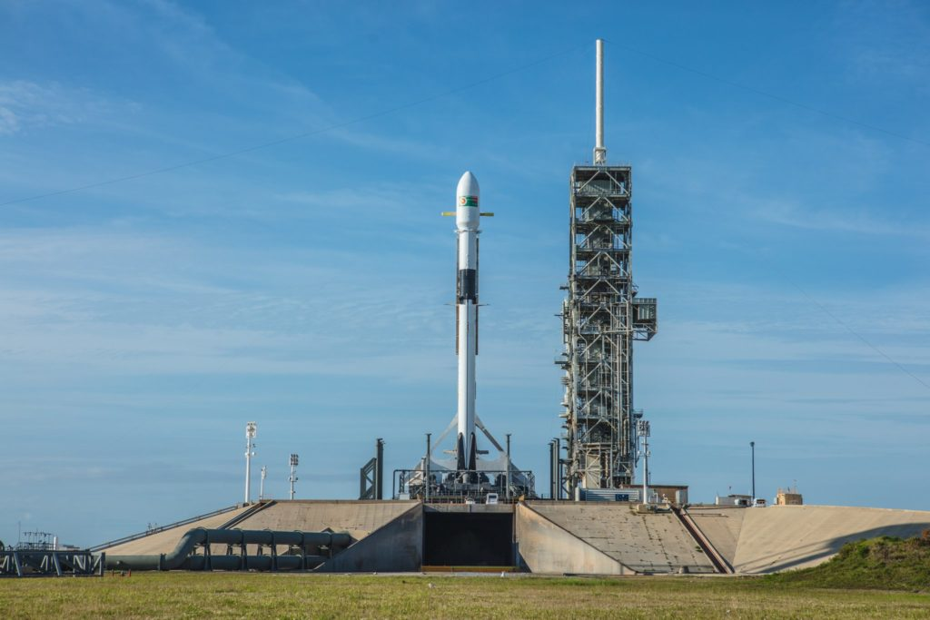 Bangabandhu Satellite-1 prepares for launch atop SpaceX's Falcon 9 Block 5. rocket at NASA at Cape Canaveral in Florida. Photo by SpaceX