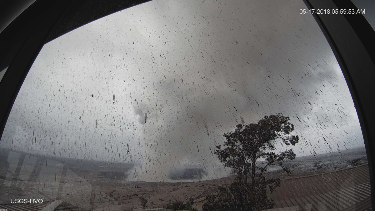 An explosive eruption occurred at the Kilauea volcano's summit at 5:00 a.m. local time. Photo by U.S. Geological Survey