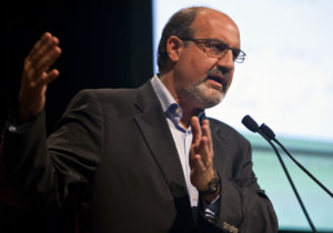 "Nassim Nicholas Taleb, author of ""The Black Swan,"" speaks during the second annual 2010 Buttonwood Gathering sponsored by The Economist magazine in New York, U.S., on Monday, Oct. 25, 2010. This year's Buttonwood Gathering brings together leading policymakers, banking executives and regulators to discuss restoring trust in the financial system and evaluate our place on the road to recovery. Photographer: Ramin Talaie/Bloomberg via Getty Images"