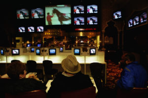 Gamblers watching horse racing. Photo by Mark Peterson/Corbis via Getty Images