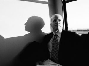 WASHINGTON DC - JANUARY 14: Senator John McCain heads to the Washington Reagan Airport on a bus January 14, 2000 in Washington, DC. (Photo by David Hume Kennerly/Getty Images)