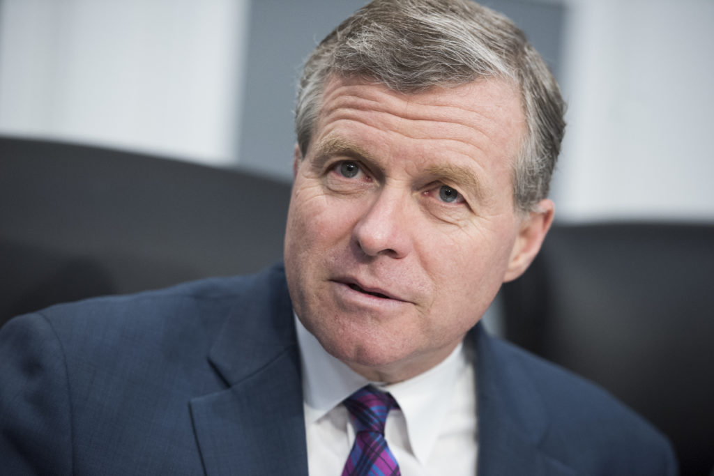 UNITED STATES - MARCH 15: Chairman Charlie Dent, R-Pa., conducts  a House Appropriations Military Construction, Veterans Affairs and Related Agencies subcommittee hearing in Rayburn Building on the Veterans Affairs Department's FY2019 budget featuring testimony by Secretary David Shulkin on March 15, 2018. (Photo By Tom Williams/CQ Roll Call)