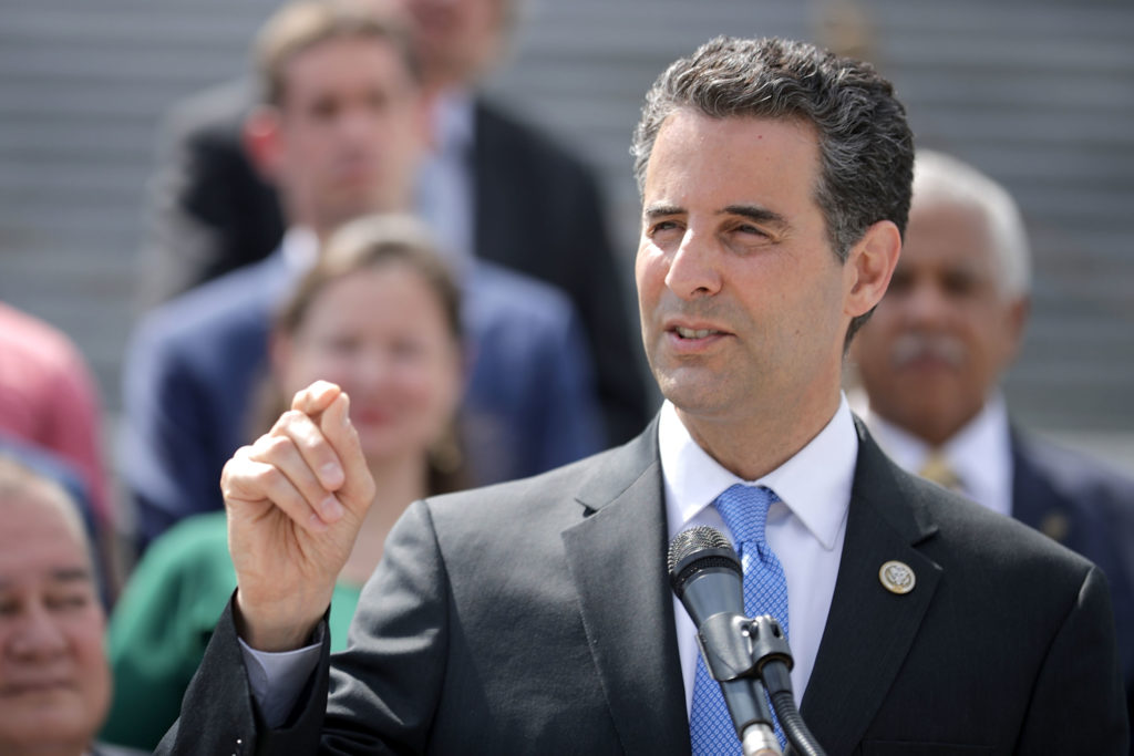 WASHINGTON, DC - MAY 21:  Rep. John Sarbanes (D-MD) joins a group of fellow Democrats and their supporters in introducing a new campaign to retake Congress during a news conference at the U.S. Capitol May 21, 2018 in Washington, DC. The campaign, called 'A Better Deal for Our Democracy,' aims at 'taking back the power from special interests and getting rid of the pay-to-play culture of corruption, cronyism and incompetence embodied by the Trump Administration.'  (Photo by Chip Somodevilla/Getty Images)