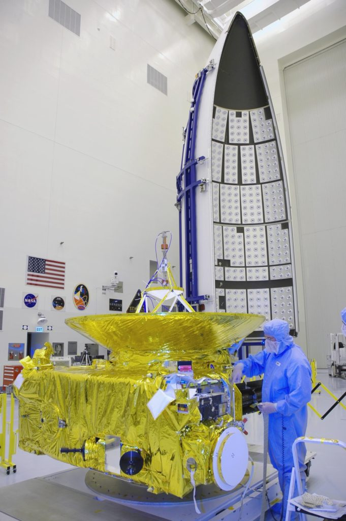 New Horizons in the clean room prior to launch in 2006. Photo provided by NASA