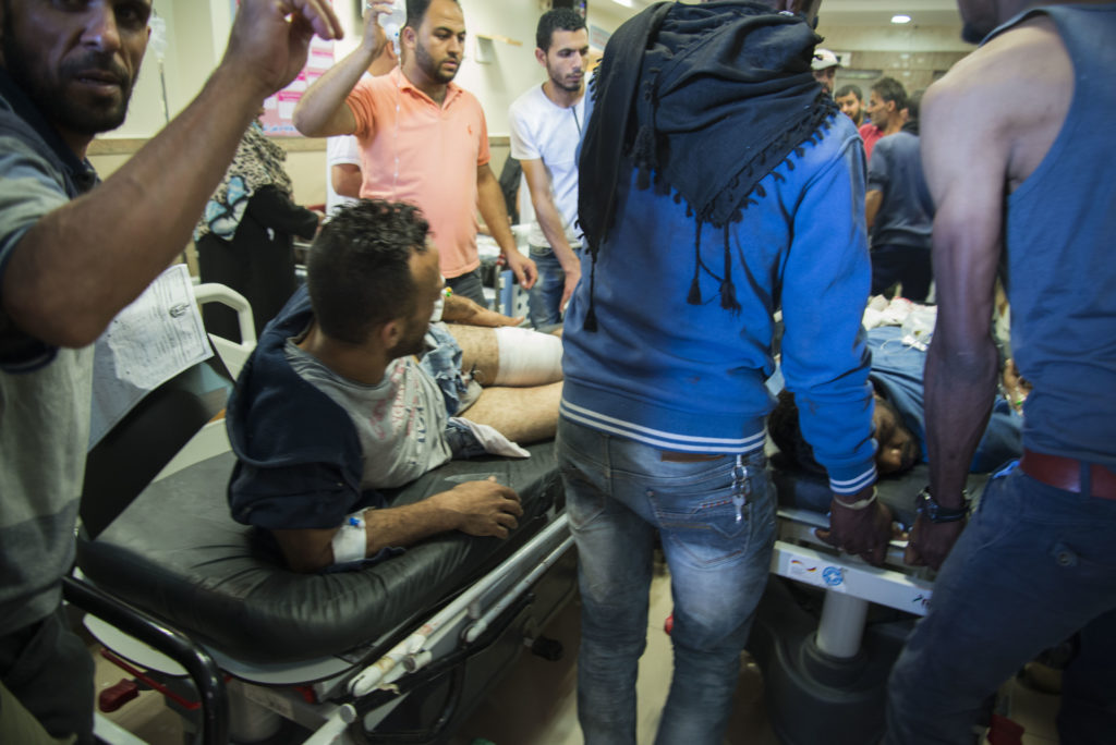 Non-severe admissions in Al-Aqsa hospital in the Gaza Strip. Photo by Aurelie Baumel/Doctors Without Borders