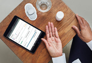 A new clinical study is underway at 16 health centers around the country to see if a pill with an ingestible sensor can improve medication adherence rates for hepatitis C drugs. Photo by Proteus Digital Health