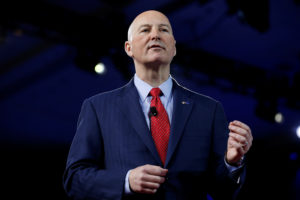 Republican Governor of Nebraska Pete Ricketts speaks at the Conservative Political Action Conference (CPAC) in Oxon Hill, Maryland, U.S. February 24, 2017. REUTERS/Joshua Roberts - RC14C72EDCE0