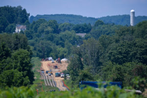 Construction work continues on Sunoco's Mariner East II natural gas pipeline near Morgantown in Chester County, Pennsylvania, August 1, 2017. REUTERS/Charles Mostoller - RC1CCA04ED20