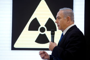 Israeli Prime minister Benjamin Netanyahu speaks during a news conference at the Ministry of Defence in Tel Aviv, Israel. Photo by Amir Cohen/Reuters