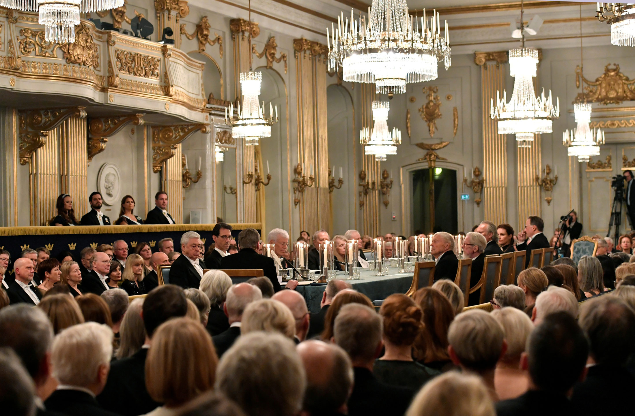 A general view of the Swedish Academy's annual meeting at the Old Stock Exchange building in Stockholm, Sweden, in 2017. Photo by TT News Agency/Jonas Ekstromer via Reuters