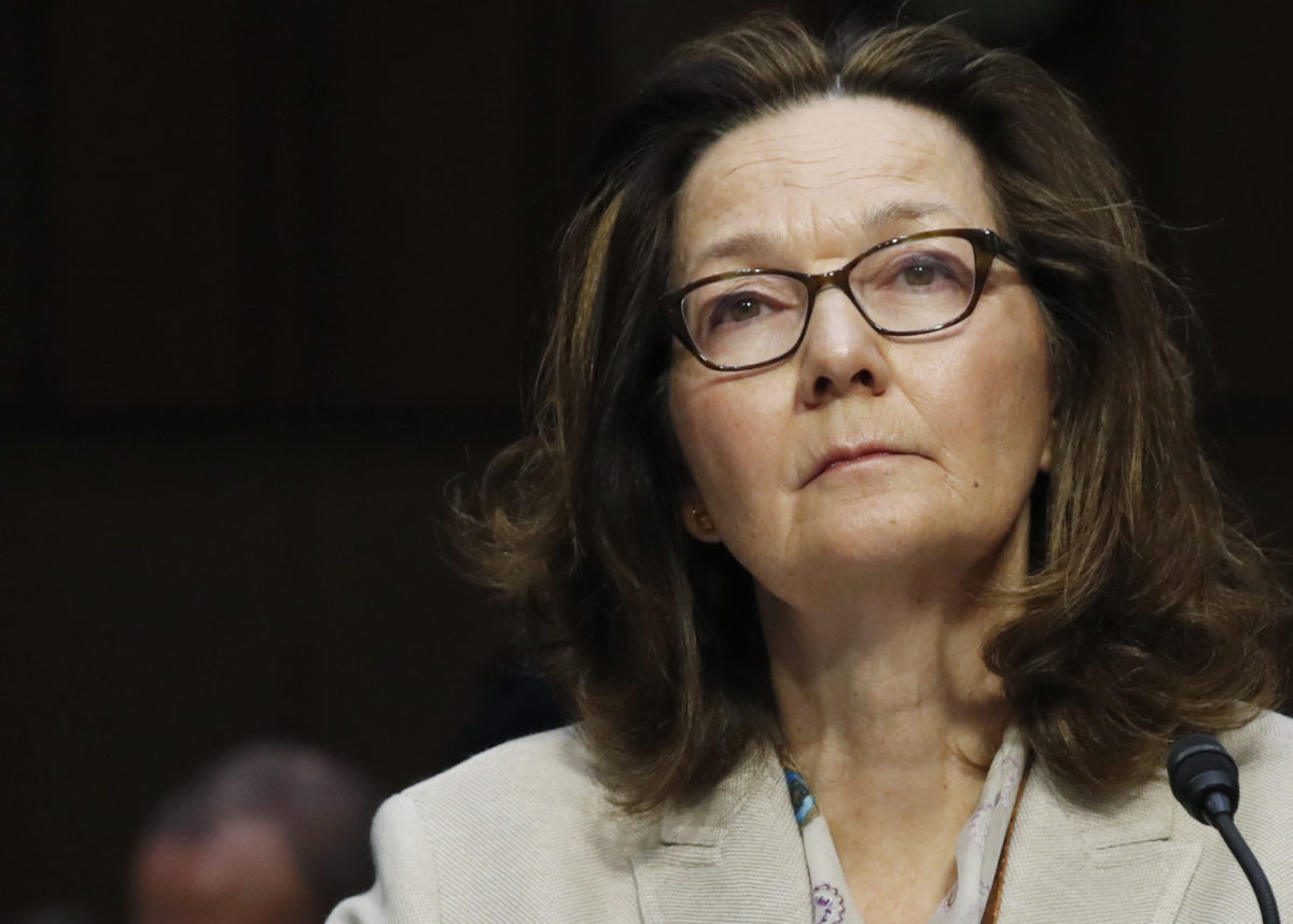 Acting CIA Director Gina Haspel testifies at her Senate Intelligence Committee confirmation hearing on Capitol Hill in Washington, D.C., on May 9, 2018. Photo by Kevin Lamarque/Reuters