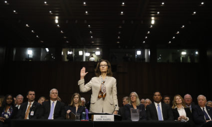 Pbs newshour cia director nominee and acting cia director gina haspel is sworn in prior to testifying at fandeluxe Gallery