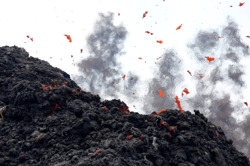 hawaii volcano raises concerns of eruptions along west coast pbslava erupts from a fissure east of the leilani estates subdivision during ongoing eruptions of the kilauea volcano in hawaii, u s , may 12, 2018