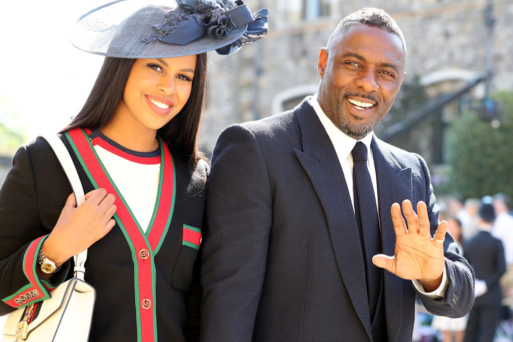 Actor Idris Elba and his fiancee Sabrina Dhowre arrive at St. George's Chapel. Photo by Gareth Fuller/Pool via Reuters