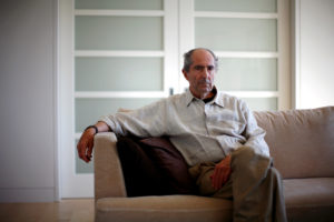 Author Philip Roth poses in New York for a photo in 2010. Photo by Eric Thayer/Reuters