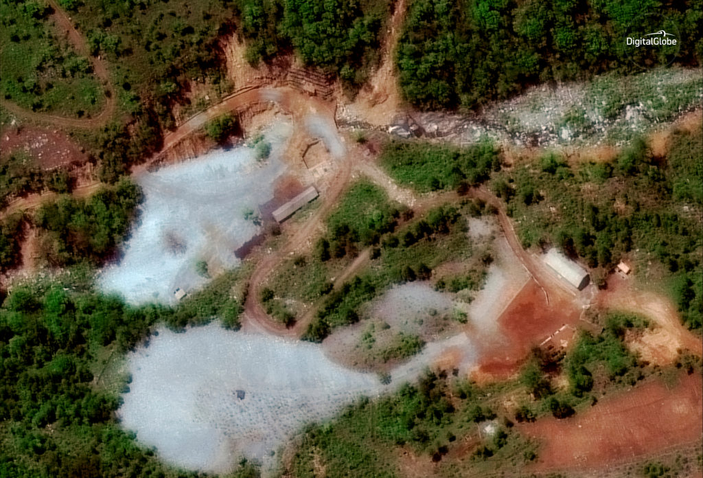 North Korea's Punggye-ri nuclear test facility is shown in this DigitalGlobe satellite image in North Hamgyong Province, N...