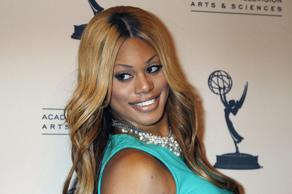 "Actress Laverne Cox, star of the Netflix series ""Orange is the New Black"", arrives at The Academy of Television Arts & Sciences event in Los Angeles"