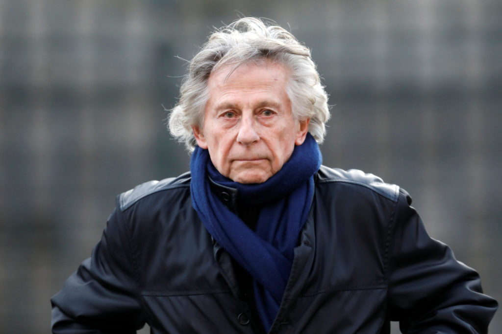 Film director Roman Polanski arrives at the Madeleine Church to attend a ceremony during a 'popular tribute' to late French singer and actor Johnny Hallyday in Paris, France, December 9, 2017. REUTERS/Charles Platiau - RC1F21624420