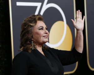 Actress Roseanne Barr at the 75th Golden Globe Awards in Beverly Hills, California. Photo by Mario Anzuoni/Reuters