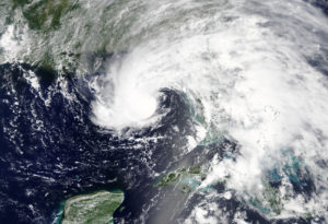 Subtropical Storm Alberto is pictured nearing the Florida Panhandle in this May 27 NASA handout photo. NASA/Handout via Reuters