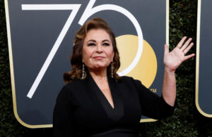 FILE PHOTO: Actress Roseanne Barr waves on her arrival to the 75th Golden Globe Awards in Beverly Hills, California, U.S., January 7, 2018. REUTERS/Mario Anzuoni/File Photo - RC12FF42D420