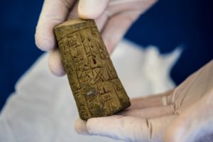 Hobby Lobby agreed to a settlement to relinquish thousands of Iraqi artifacts that were illegally smuggled into the U.S. in 2011. Photo provided by U.S. Immigration and Customs Enforcement