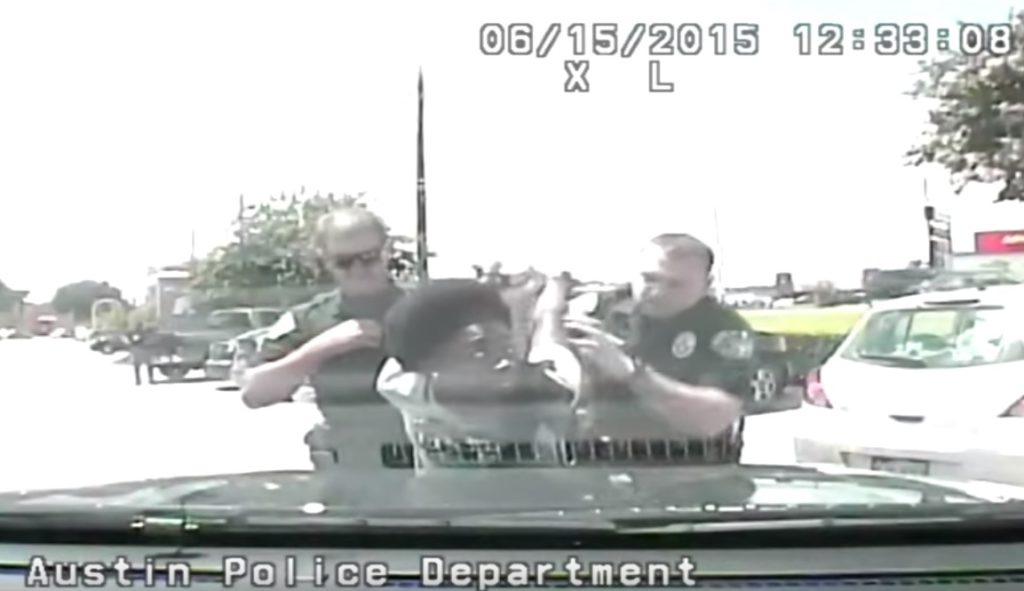 Image pulled from Austin Police Department dash-cam video