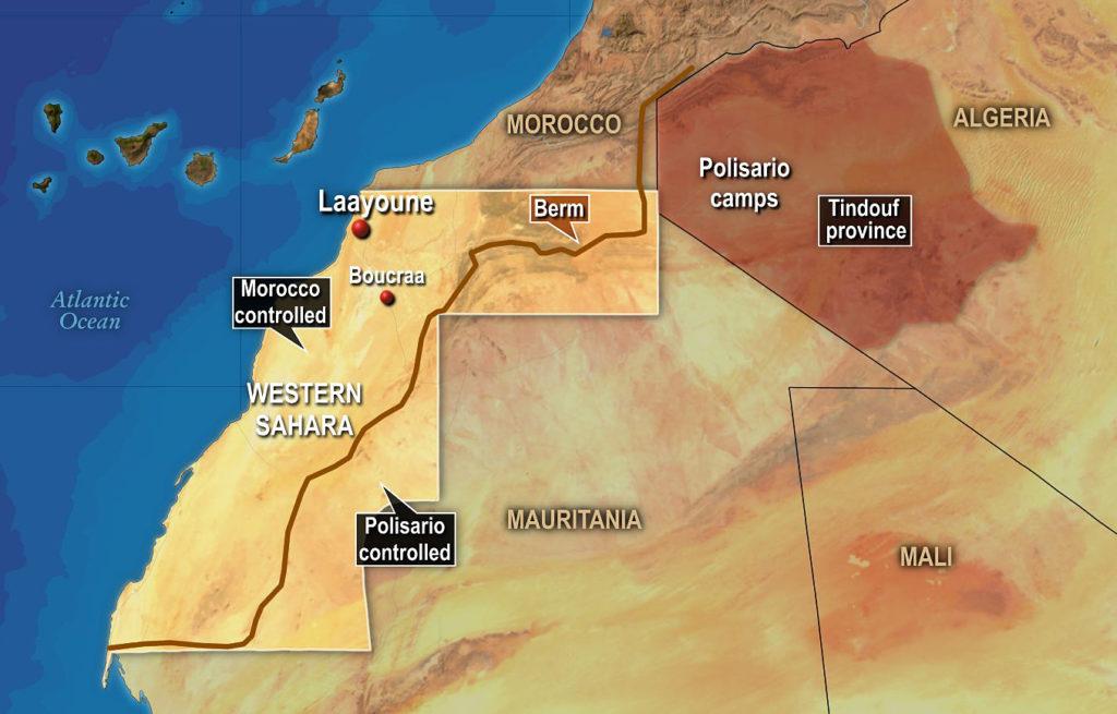 Map of Western Sahara