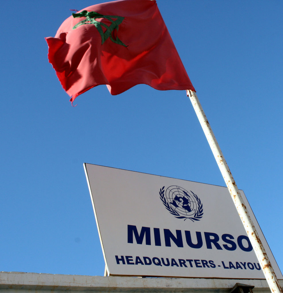U.N. headquarters in Laayoune, Western Sahara. Photo by Larisa Epatko