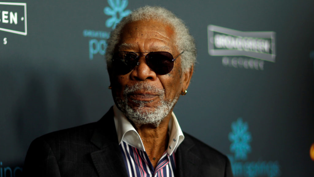 """FILE PHOTO: Cast member Morgan Freeman poses at the premiere for """"Just Getting Started"""" in Los Angeles, California, U.S., ..."""