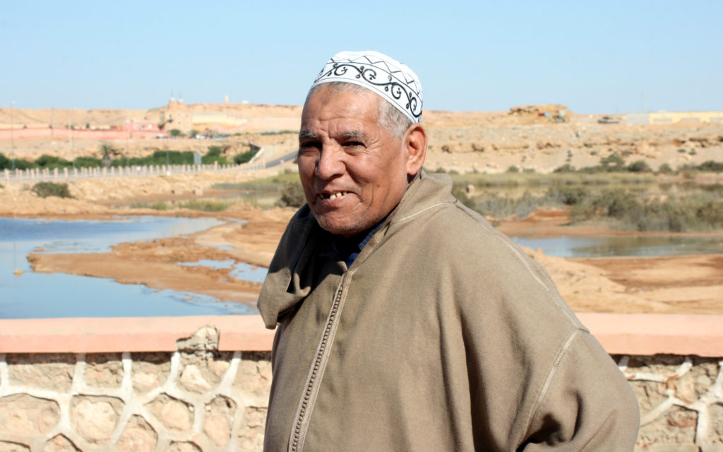 Moroccan man in Laayoune, Western Sahara. Photo by Larisa Epatko
