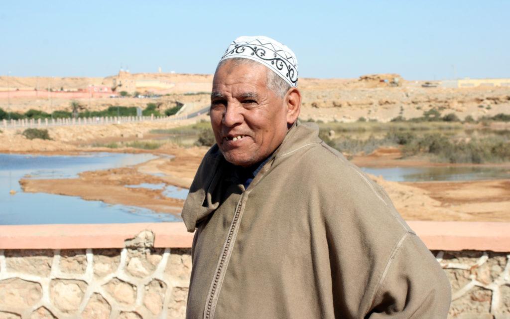 Moroccan man in Laayoune, Western Sahara. Photo by Larisa Epatko