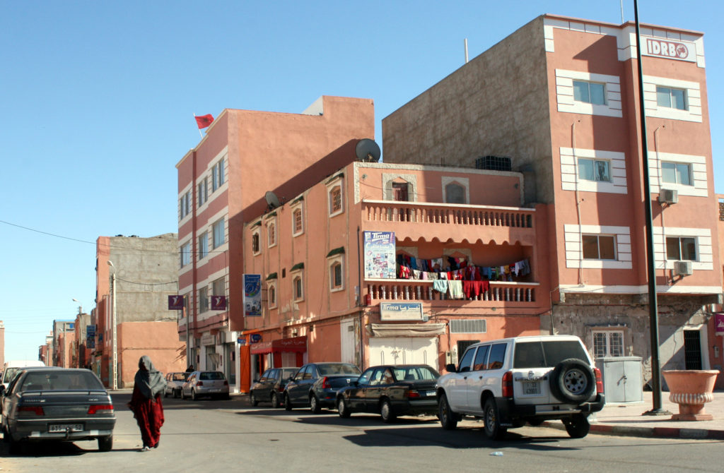 """The city of Laayoune, which means """"water sources,"""" is located about eight miles inland from the Atlantic Ocean. Photo by Larisa Epatko"""