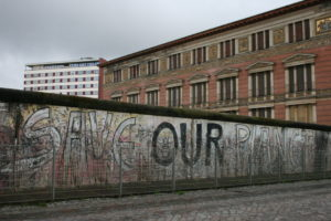 A portion of the Berlin Wall remains after the rest was torn down in November 1989. Photo by Larisa Epatko/PBS NewsHour