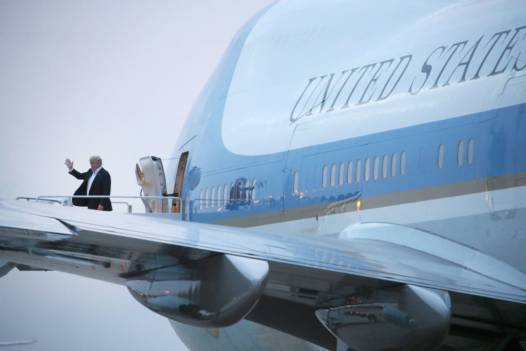 Trump says new Air Force One to get red, white and blue makeover | PBS  NewsHour