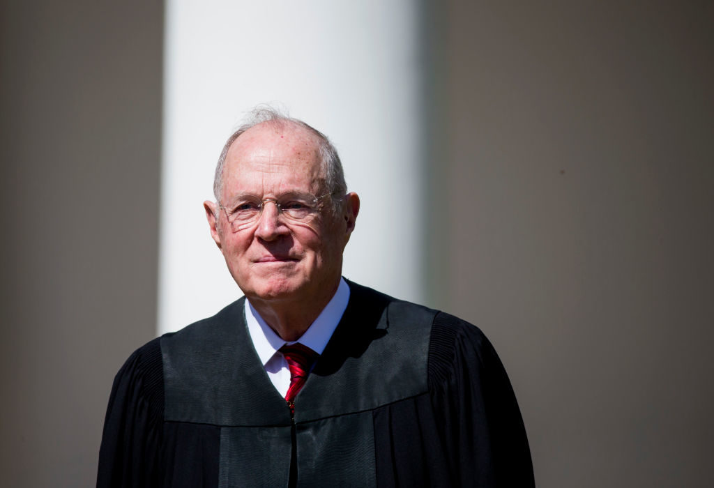 Supreme Court Associate Justice Anthony Kennedy after the swearing-in ceremony for Justice Neil Gorsuch in the Rose Garden at the White House. Photo by Eric Thayer/Getty Images